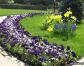 Разновидности цветников и газонов